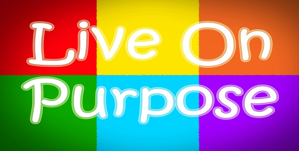 Live On Purpose Concept text on background